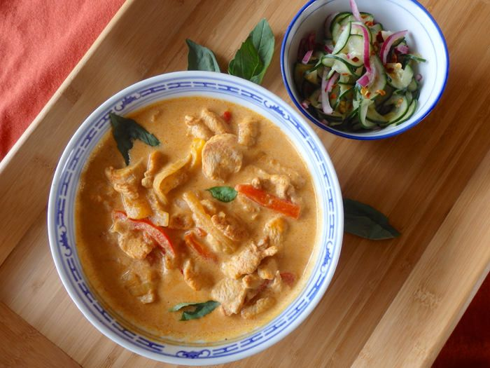 chicken-curry-and-coconut-milk en grávida