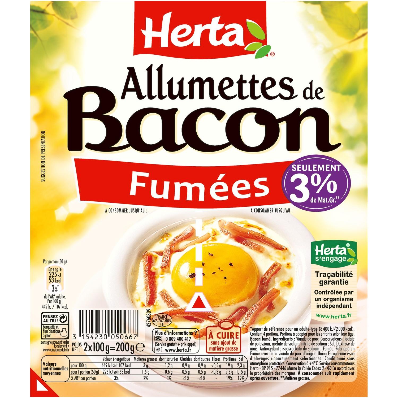 allumettes-bacon enceinte