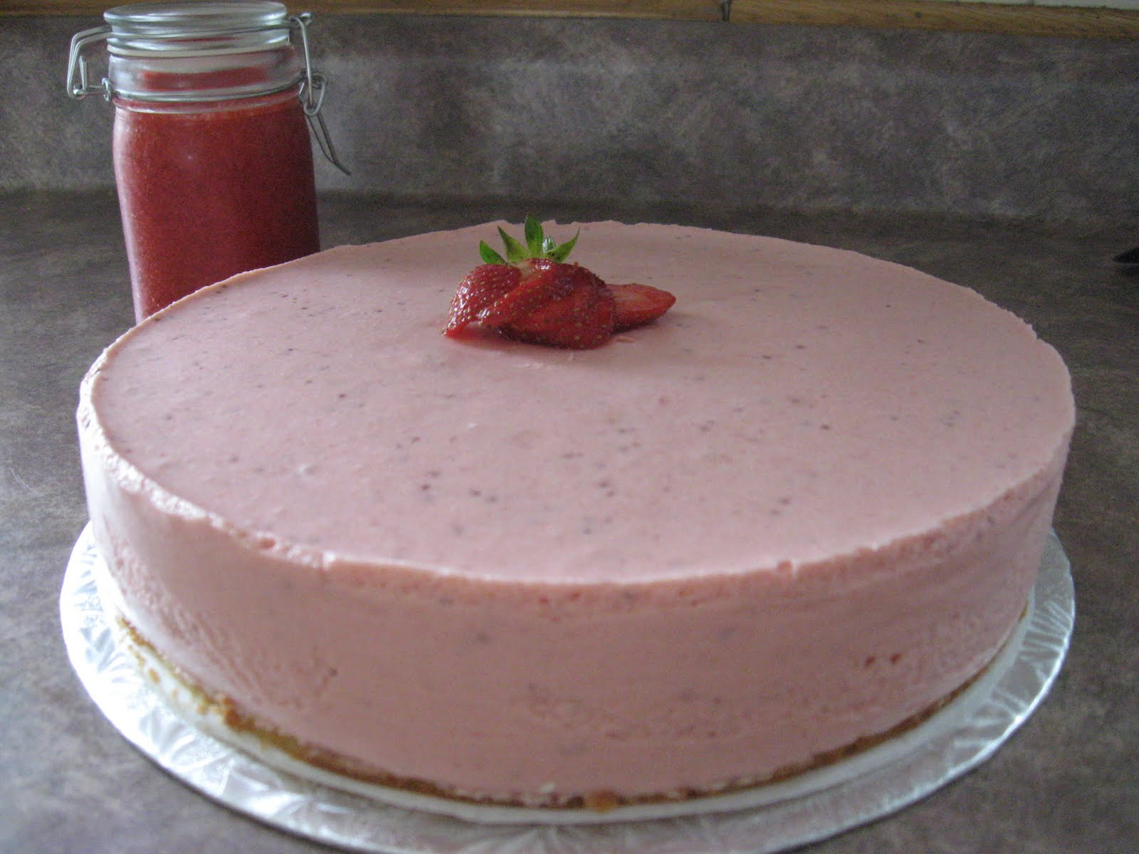 bavarois-fraise enceinte
