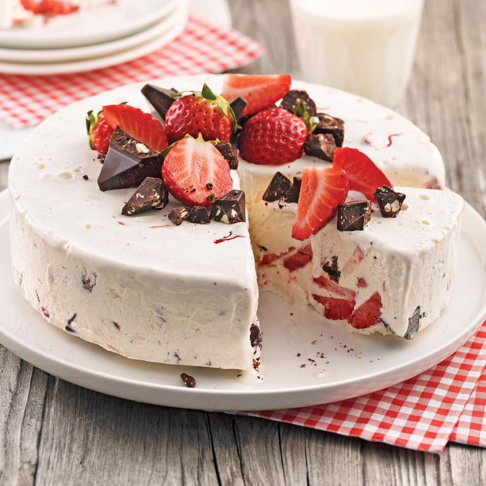glace-fraise enceinte