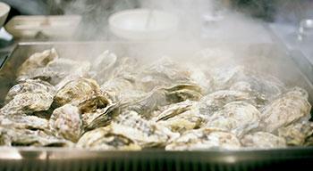 oyster-cocinado embarazada