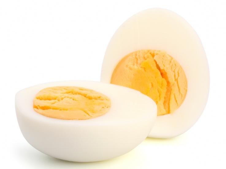 hard-boiled-duck-egg en grávida