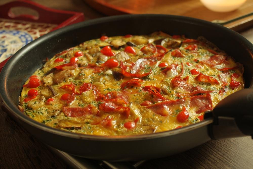 omelette-chorizo enceinte
