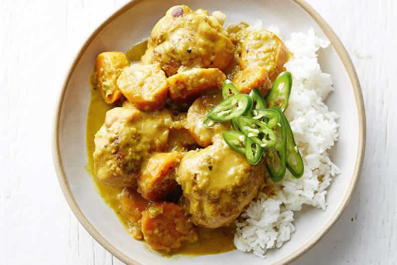 poulet-curry enceinte