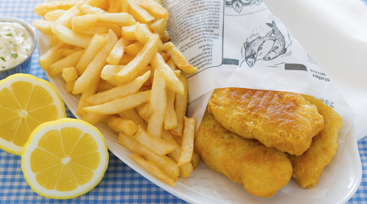 fish-and-chips enceinte
