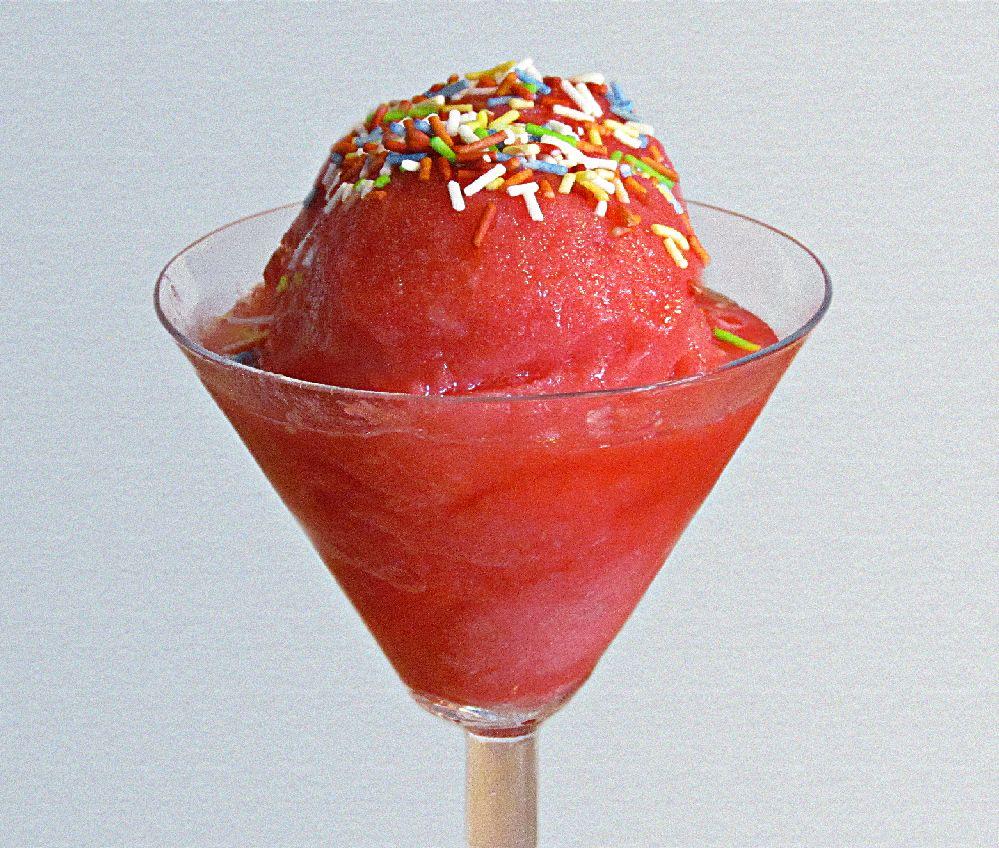 strawberry-sorbet embarazada